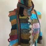 Knit a Ringlet Block Scarf, Free Pattern Designed By Irina Poludnenko