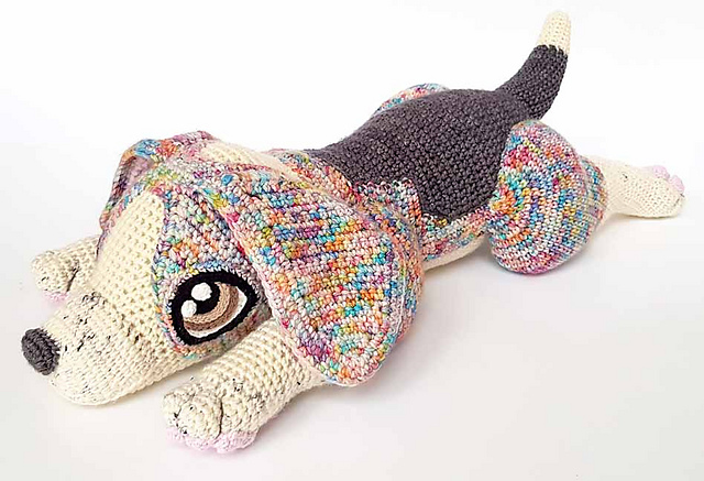 Crochet a Psychedelic Rocket the Beagle Amigurumi, It's Life Sized!