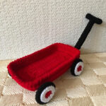 Free Pattern Alert! Crochet a Little Red Wagon, Designed By Silvia-Carmen Comanescu
