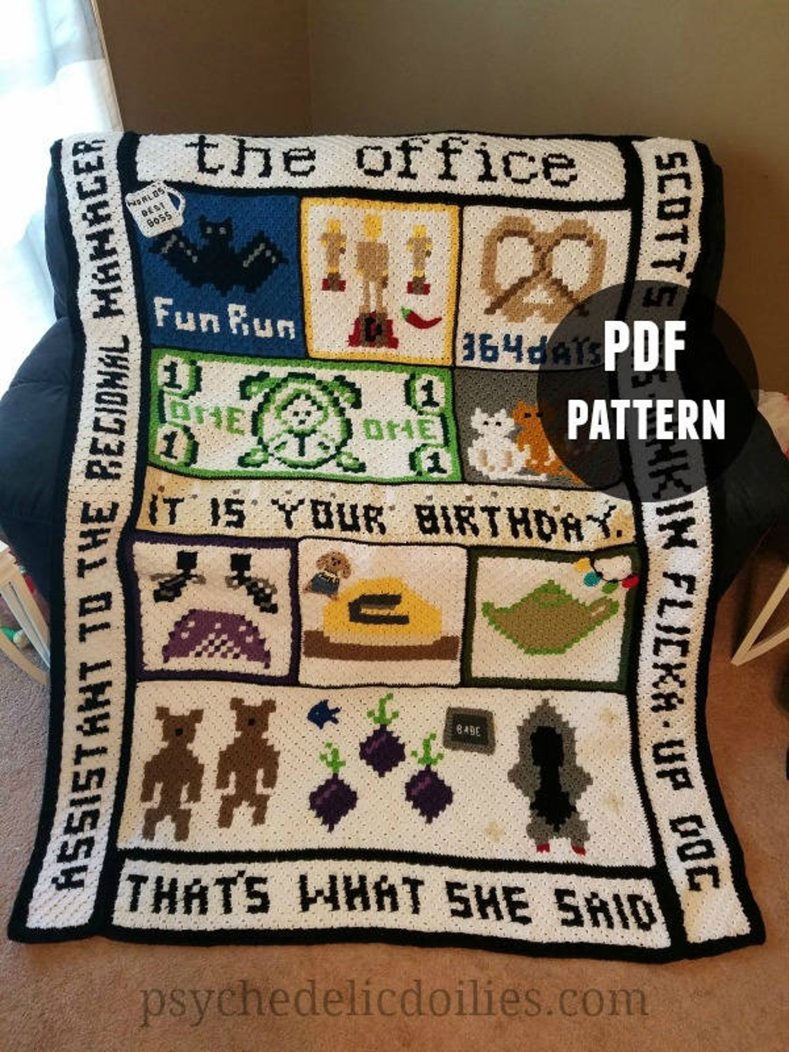 Get the crochet pattern, designed by Jessica Bowman of Psychedelic Doilies #crochet