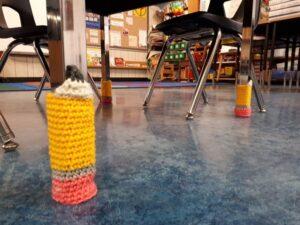 Chair socks are fun! #crochet