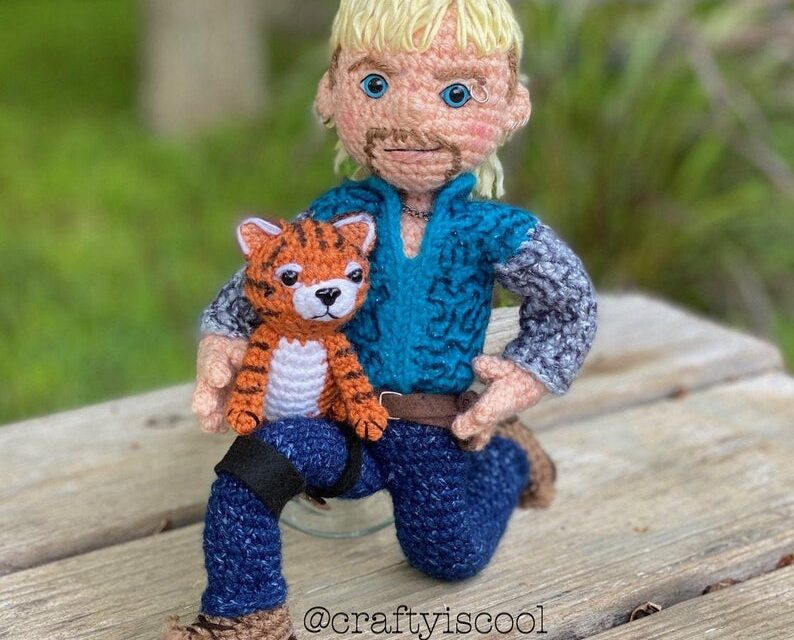 Obsessed With Tiger King? Allison Hoffman of Crafty Is Cool Designed an Awesome Joe Exotic Amigurumi Pattern, With a Tiger Cub!