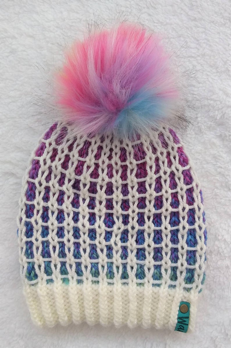 Knit a Restricted Section Hat ... It's a Gorgeous Grid, Filled To The Brim With Color!