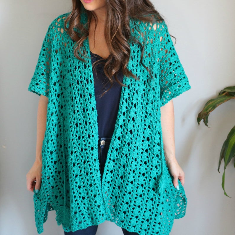 Crochet a Gorgeous Lacy Days Coverup Designed By Michelle Moore ... a MUST-Make!