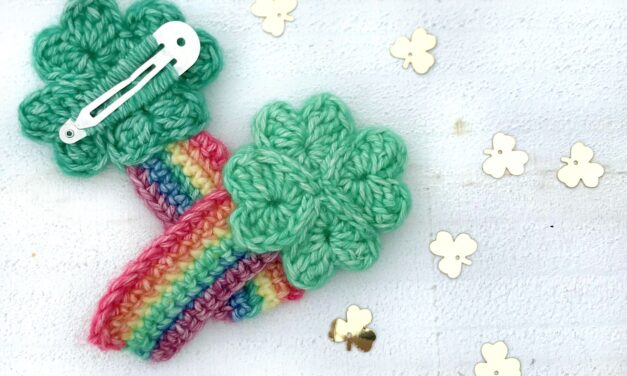 Crochet a Shamrock Hair Clip … It's Adorable and Way Better Than a Shake!