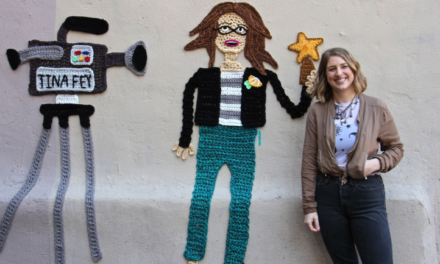 Check Out Nicole Nikolich's Yarn Bomb Portrait of Tina Fey!