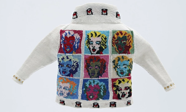 Over 60,000 Tiny Stitches In 500 Hours … Micro Knitter Althea Crome Does It Again With Her Second Incredible Andy Warhol-Inspired Design