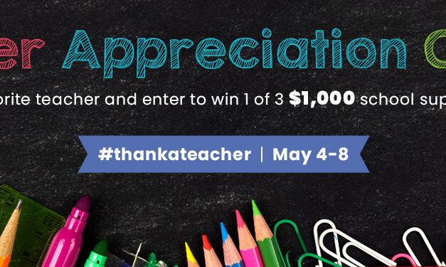Nominate a Teacher For Teacher Appreciation Week and They Could Win $1000 For Their Classroom!