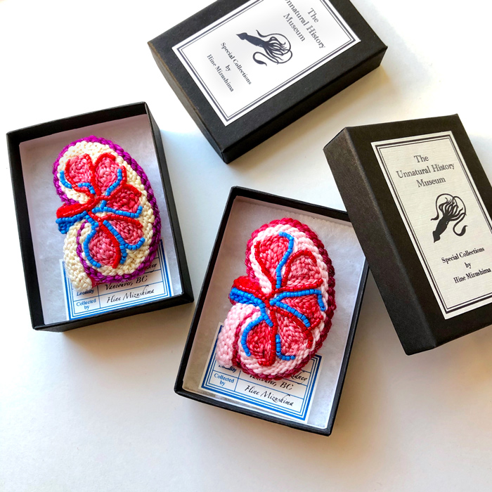 Punch Needle Organs ... New Anatomical Fiber Art Embroidered By Hiné Mizushima