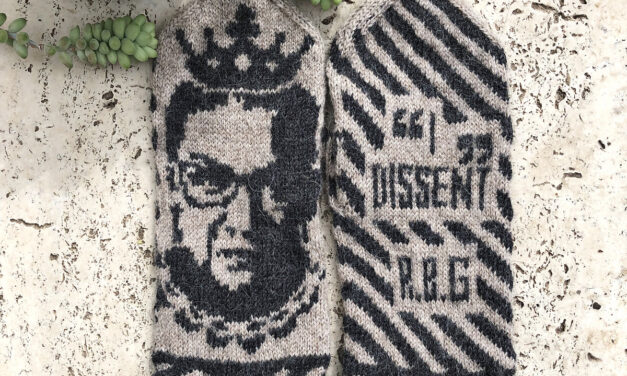 Knit a Pair of Ruth Bader Ginsburg Mittens, Designed By Lotta Lundin