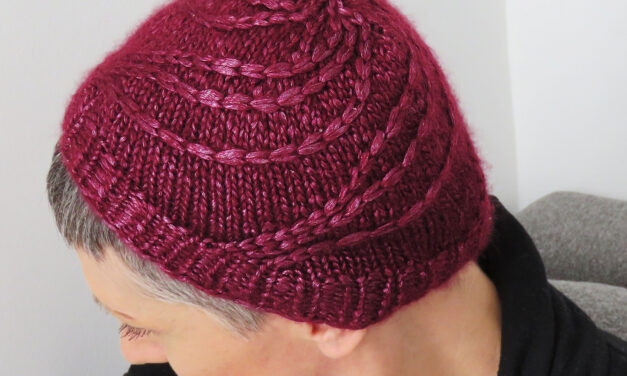 Knit a Beautiful 'Social Distancing' Beanie, Free Pattern Designed By Paola Albergamo