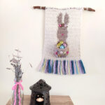 Crochet a Funny Bunny Wall Hanging With a Free Pattern From Carolina Damonte … Sorry, Chocolate Eggs Not Included!