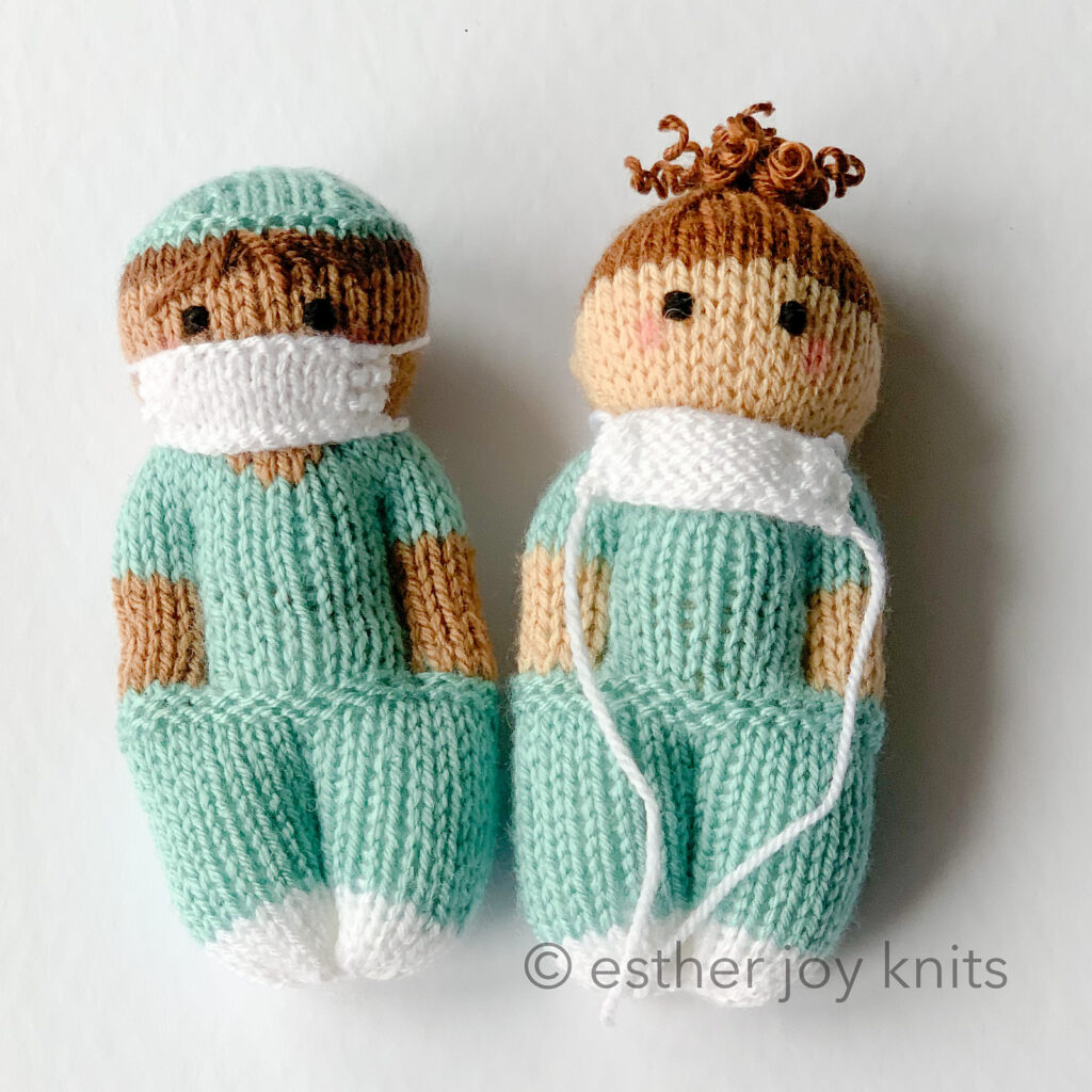 Knit a Pair of Nurse Mates Dolls To Show Your Love and Support For The World's Health Care Workers
