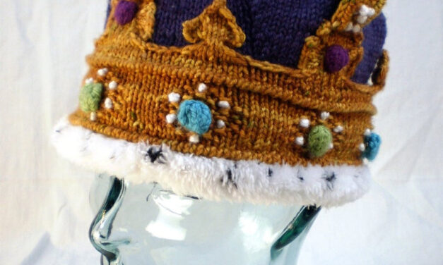 The Most Royal Crown You'll Ever Knit … A Truly Magical, Marvelous, Magnificent Pattern … There Are Not Enough M Words … Cosplay At Its Finest
