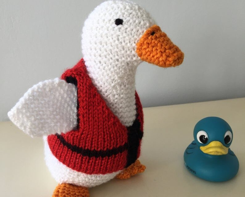 Bill The Duck Can't Swim But You Can Knit Him!
