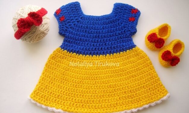Crochet a Snow White-Inspired Dress, Perfect For Cosplay
