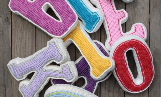 Crochet a 3D Alphabet – Get the Patterns for These Big, Block, Varsity-Style Letters!