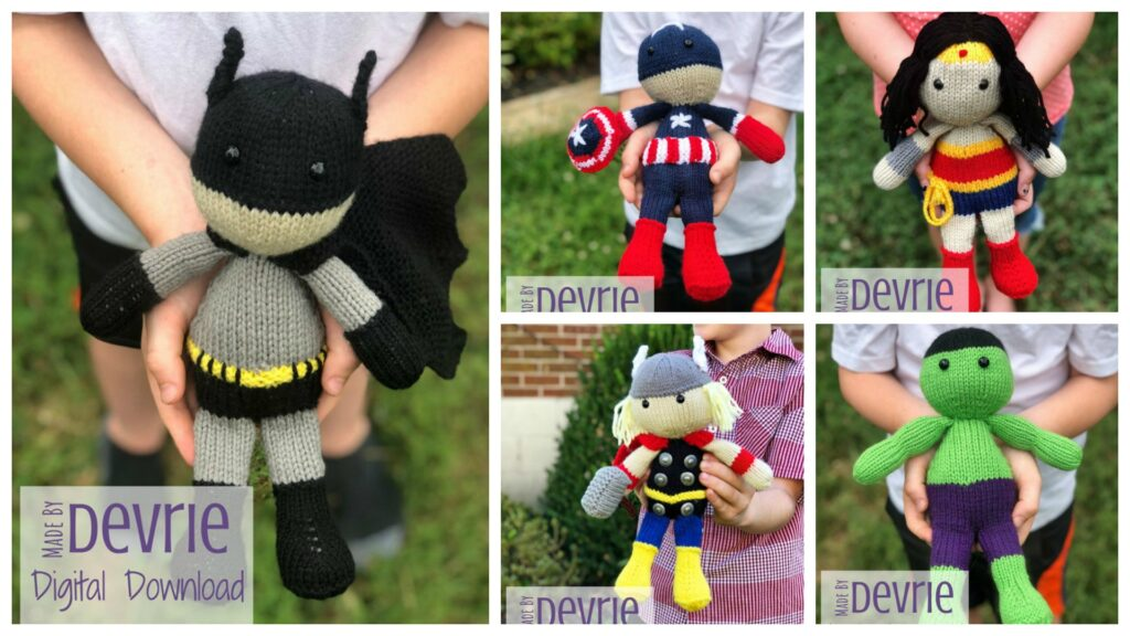 Designer Spotlight: Superhero Doll Patterns For Knitters, Amazing Amigurumi Designed By Devrie Metcalf