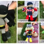 Designer Spotlight: Superhero Doll Patterns For Knitters, Amigurumi Designed By Devrie Metcalf