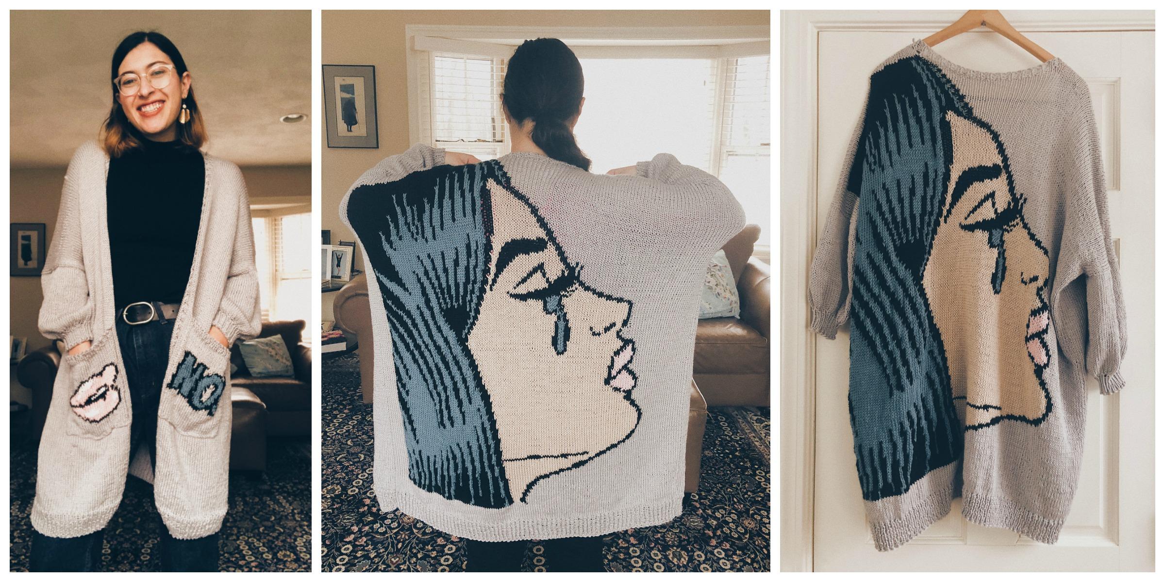 Gorgeous Pop Art Upgrade To Free Uptown Cardigan Pattern