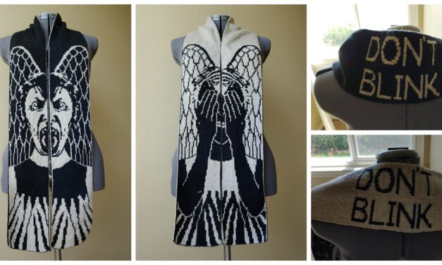 Doctor Who Fans! Double-Knit This Amazing 'Don't Blink!' Weeping Angel Scarf, Designed By Tess Campbell