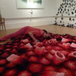 Ruth Payne's Hand-Knitted Human-Activated Coral Blanket