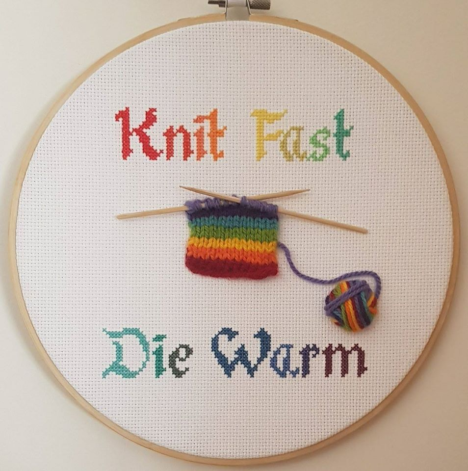 Knit Fast, Die Warm Hoop, The 3D Pride Edition!