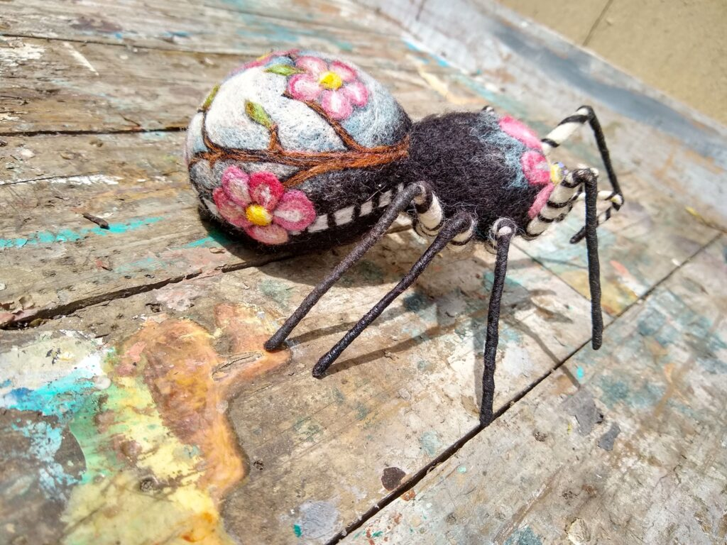 Marie Carter's Needle-Felted Spiders Are The Prettiest You've Ever Seen