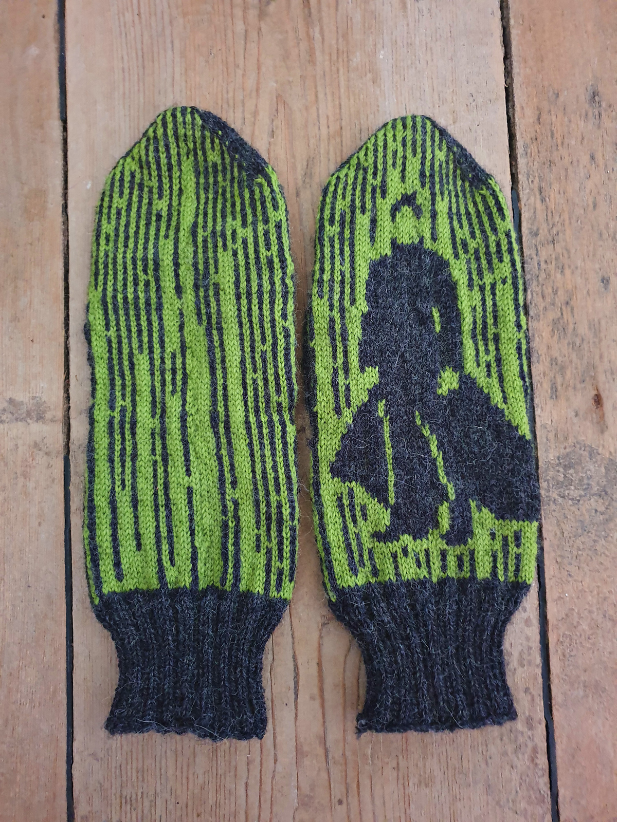Knit a Pair of Matrix Mittens, Designed By Lotta Lundin, Features Neo!