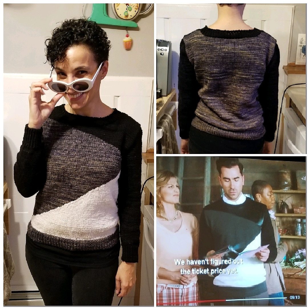 Fans Of Schitt's Creek, This Knitter's Got You - 7 Designs David Rose Wore, Re-Imagined As Sweaters
