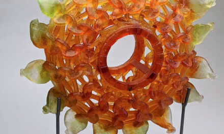 'Radiant' … The Latest Knitted Glass Sculpture From Carol Milne