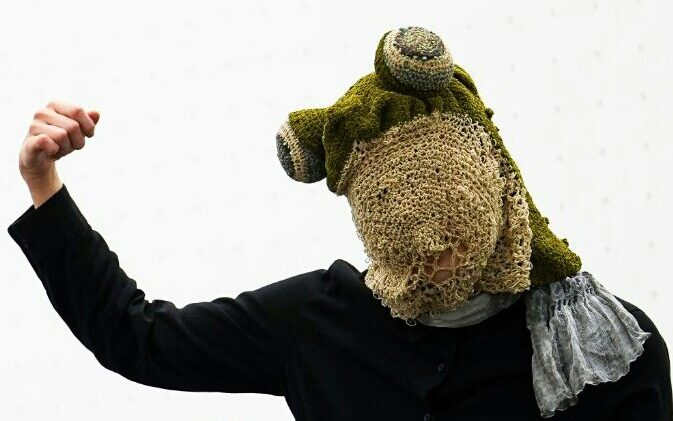 Custom Frog Masks By HAAaaa ... Artistic Crochet & Cosplay Hook Up!