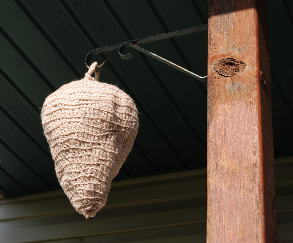 10+ Faux Wasp Nest Decoy Patterns For Crocheters and One For Knitters Too