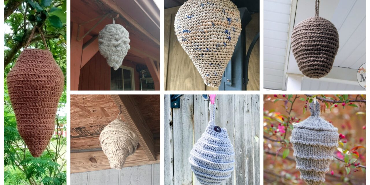 14 Faux Wasp & Hornet Nest Decoy Patterns For Crocheters, Plus One For Knitters Too