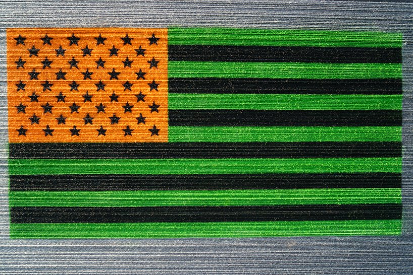 Check Out HOTTEA's Latest Piece, His Flags-Inspired 'Perspective' Installation Flies For Jasper Johns
