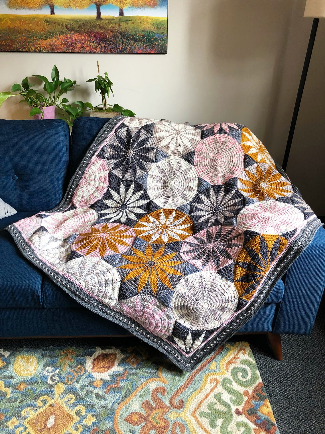 Crochet a Sophisticated Marguerite Blanket, Designed By Sandra Eng of Mobius Girl Design