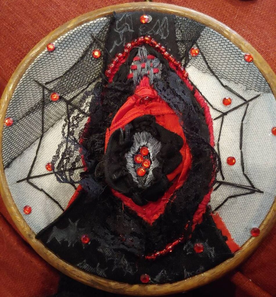 Candy Gill's Dazzling Embroidered Yoni Will Have You Shouting Viva La Vulva!
