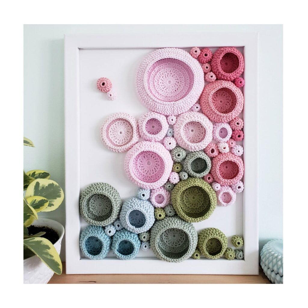 Splendiferous Soft Sculpture Wall Hanging Inspired By A Pink Peony Bush - Get The Pattern Or Have One Custom Made!