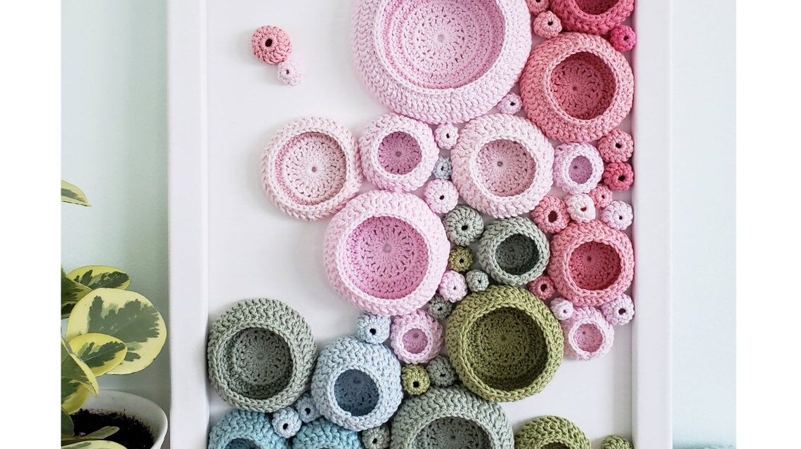 Splendiferous Soft Sculpture Wall Hanging Inspired By A Pink Peony Bush – Get The Pattern Or Have One Custom Made!