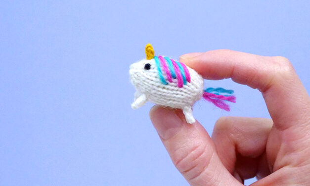 Now You Can Knit a Teeny Wee Tiny Unicorn Amigurumi! Pattern Designed By Anna of Mochimochi Land!