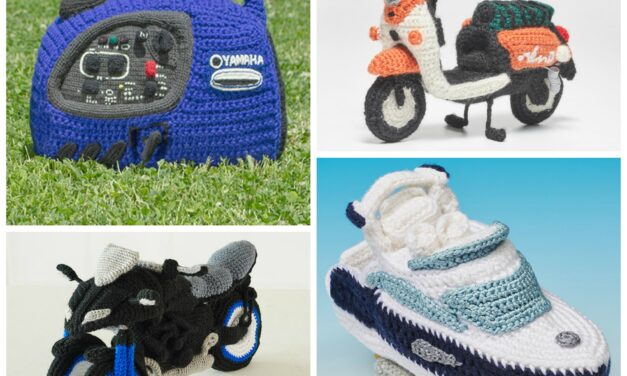 Yamaha's Collection of Free Amigurumi Patterns and Tutorials – Crochet a Detailed Yacht, Motorcycle, Generator or Electric Scooter