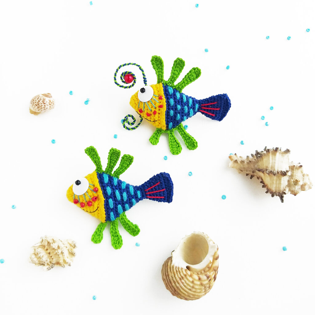 Tiny Fish Amigurumi Designed By Anna Karelina ... Cute and Creative Patterns Use Beading, Wirework and More