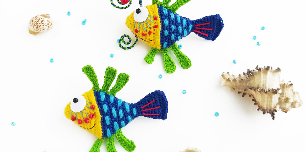 Tiny Fish Amigurumi Designed By Anna Karelina … Cute and Creative Patterns Use Beading, Wirework and More
