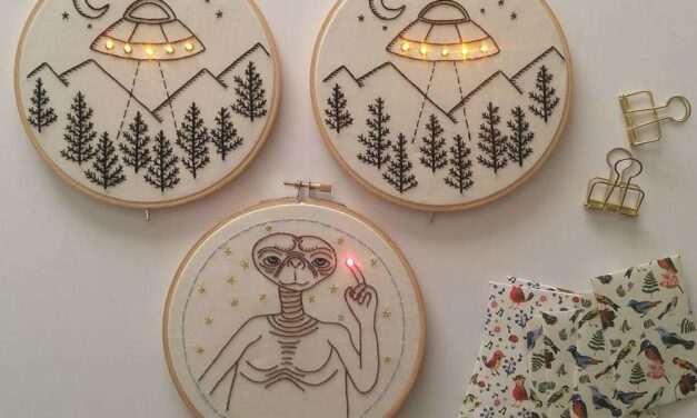 This Light-Up Embroidery From Amao Crafts Makes Me So Happy