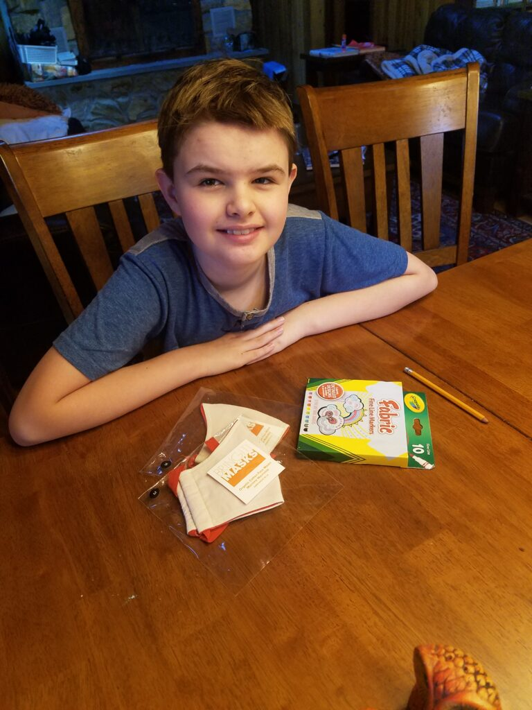Finn Designed His Own Organic Cotton Face Mask With A DIY Kit From BringIt! Masks ...
