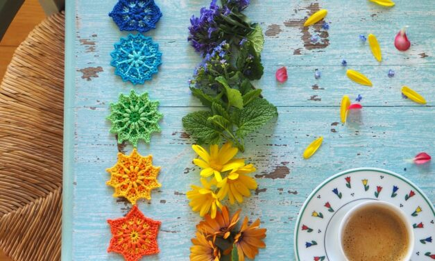 Crochet a Set of Colorful Chakra-Inspired Mini Mandalas, Designed By Renata Saj