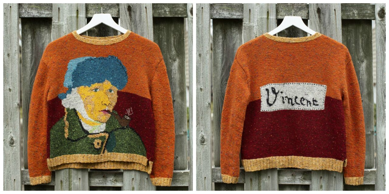 Gorgeous Knit Sweater Inspired By Vincent Van Gogh
