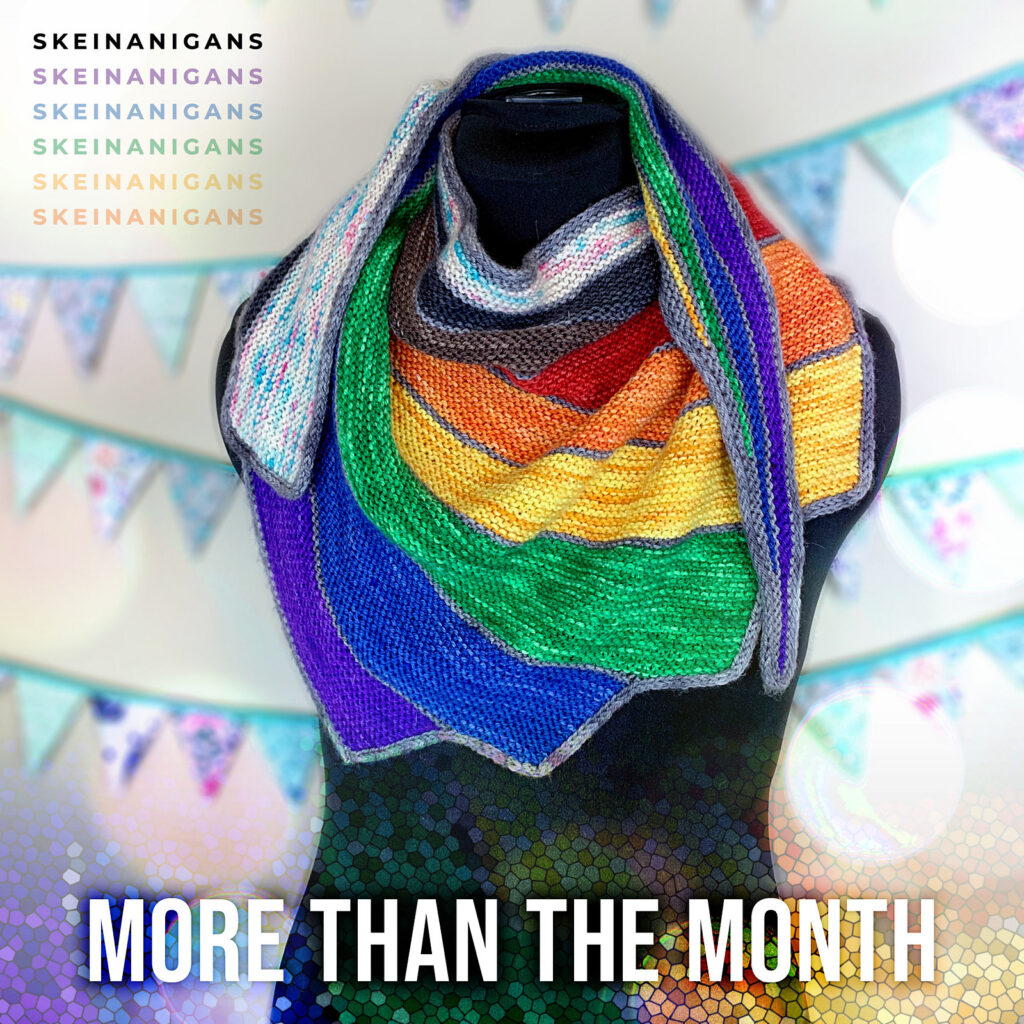 Anytime Is The Right Time To Knit a 'More Than The Month' Shawl, Designed By Skeinanigans