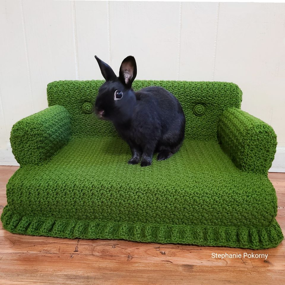 Who Says This Crochet Cat Couch Can't Moonlight For A House Bunny? Not This Gal ...