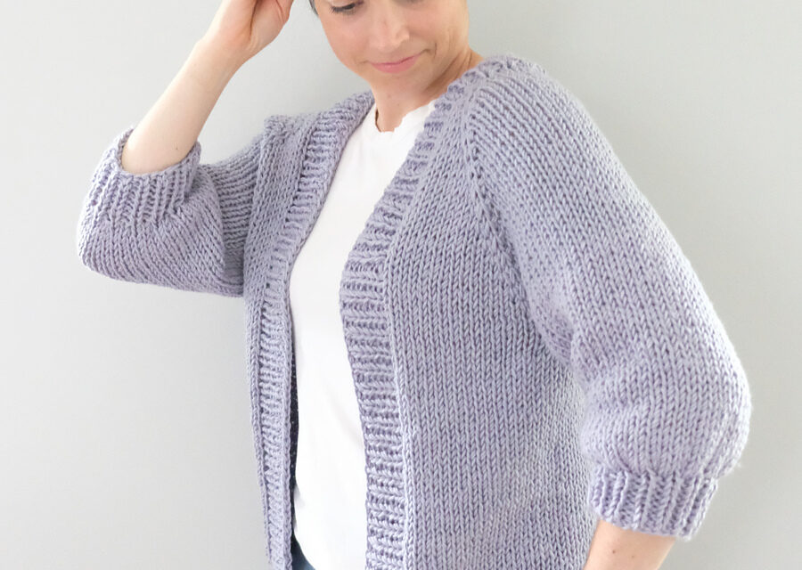 Free Pattern Alert: Knit a Simple Shores Cardigan Designed By Ashley Lillis